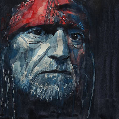 Always On My Mind - Willie Nelson  Art Print by Paul Lovering