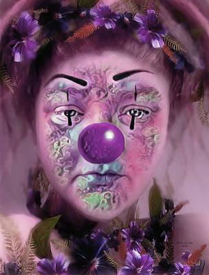 Digital Art - Always Playing The Clown by Artful Oasis