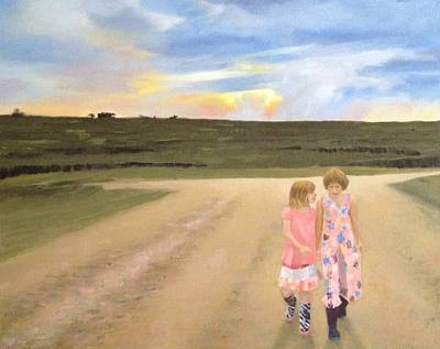 Sisterly Painting - Always Sisters - Forever Friends by Jean Scanlin Wright