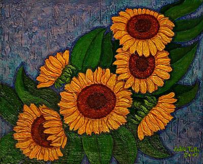 Girasole Painting - Always Sunflowers... by Madalena Lobao-Tello