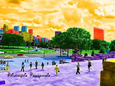Citylife Digital Art - Always Sunny In Philadelphia by Kevin  Sherf