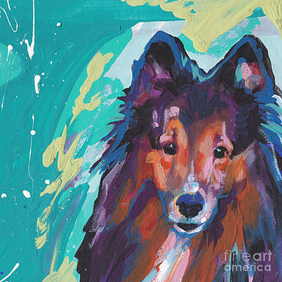 Sheltie Painting - Always Yours by Lea S