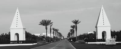 Architecture Photograph - Alys Beach Entrance by Megan Cohen