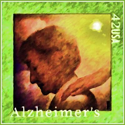 Alzheimers Awareness Art Print by Lanjee Chee
