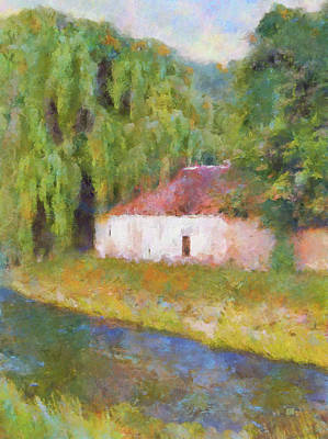 Painting - Am Fluss In Sentfenberg Wachau by Menega Sabidussi