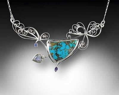 Sterling Silver Jewelry - Am I Blue by Jeanne  Rhodes-Moen