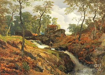 Painting - Am Wildbach by Pg Reproductions