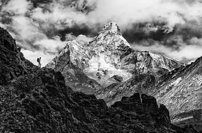 Nepal Photograph - Ama Dablam by Elena Facco