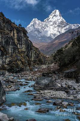 Trek Photograph - Ama Dablam In Nepal by Mike Reid