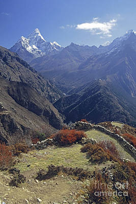 Photograph - Ama Dablam Nepal In November by Rudi Prott