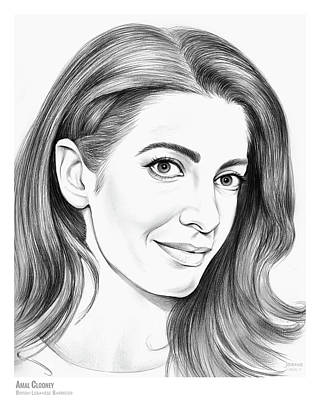George Drawing - Amal Clooney by Greg Joens