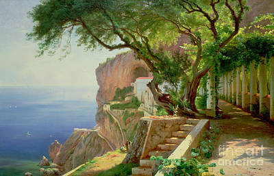 Frederick Painting - Amalfi by Carl Frederic Aagaard