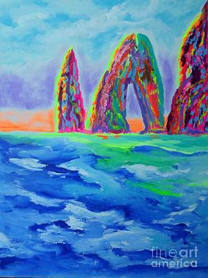 Painting - Amalfi Coast Capri by Sharon Worley