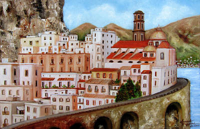 Painting - Amalfi Coast by Leonardo Ruggieri