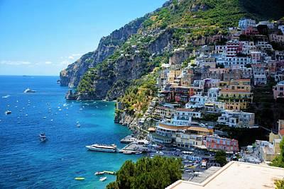 Photograph - Amalfi Coast, Positano, Italy by Ron Bartels