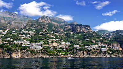Photograph - Amalfi Coastal View by Anthony Dezenzio