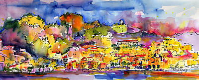 Painting - Amalfi Italy Coastline Travel by Ginette Callaway