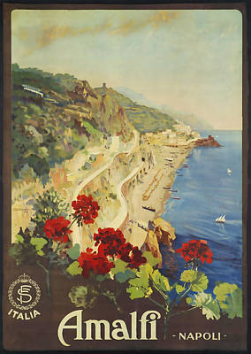 Amalfi Art Mixed Media - Amalfi Napoli by David Wagner