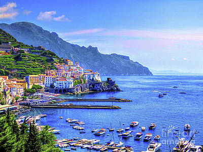 Photograph - Amalfi On The Coast by TK Goforth