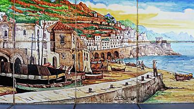 Digital Art - Amalfi Street Art by Joseph Hendrix