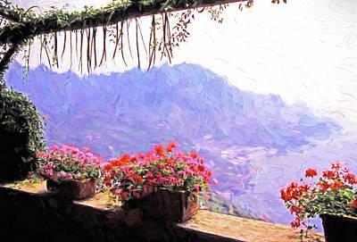 Digital Art - Amalfi View From Ravello by Dennis Cox Photo Explorer