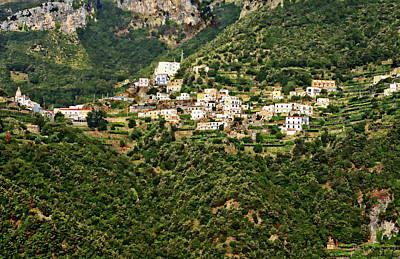 Photograph - Amalfi Village View by Anthony Dezenzio