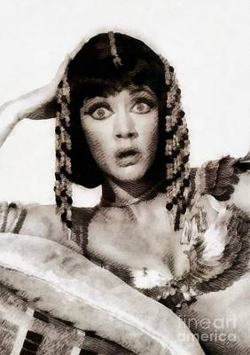 Cleo Painting - Amanda Barrie, Vintage Actress by John Springfield
