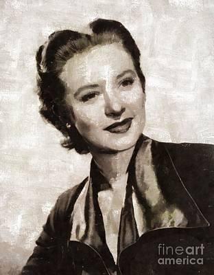 Amanda Blake, Vintage Actress By Mary Bassett Art Print