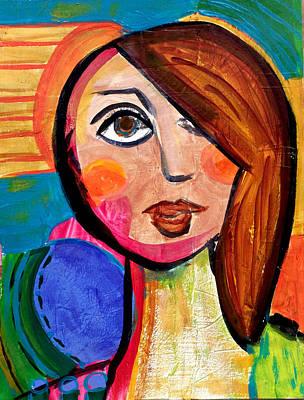 Painting - Amanda - Vivid Vixen 1 by Jenny Mead