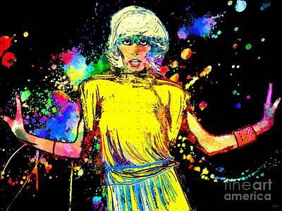 Disco Mixed Media - Amanda Lear Grunge by Daniel Janda