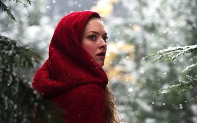 Amanda Seyfried In Red Riding Hood Art Print