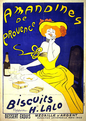 Mixed Media - Amandines De Provence - Biscuits - Vintage Advertising Poster by Studio Grafiikka