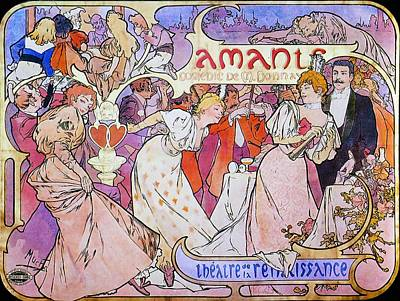 Painting - Amants by Alphonse Mucha