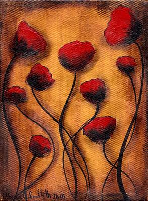 Painting - Amapolas by  Abril Andrade Griffith