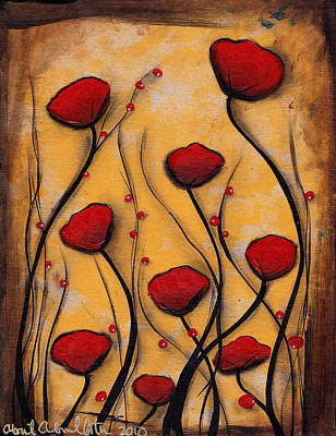 Painting - Amapolas Rojas by  Abril Andrade Griffith