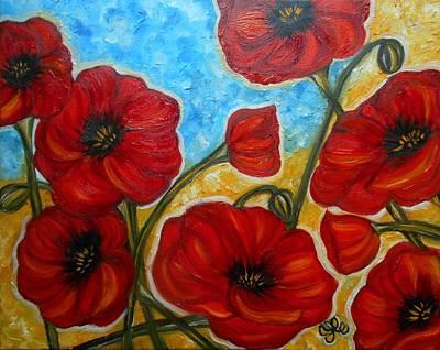 Painting - Amapolas by Yesi Casanova