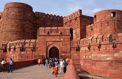 Photograph - Amar Singh Gate, Red Fort, Agra, India by Aidan Moran