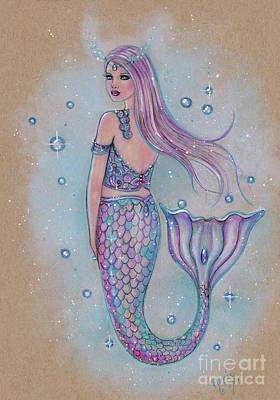 Drawing - Amara Mermaid by Renee Lavoie