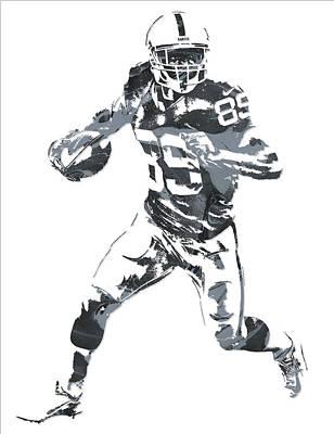 Mixed Media - Amari Cooper Oakland Raiders Pixel Art 10 by Joe Hamilton