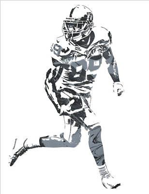 Mixed Media - Amari Cooper Oakland Raiders Pixel Art 11 by Joe Hamilton