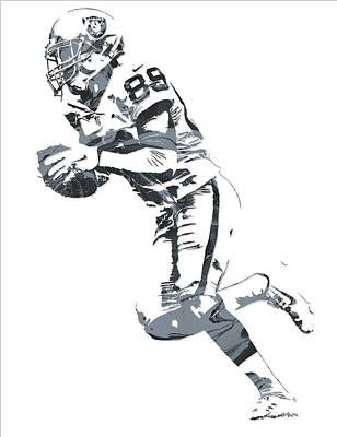 Football Mixed Media - Amari Cooper Oakland Raiders Pixel Art 12 by Joe Hamilton
