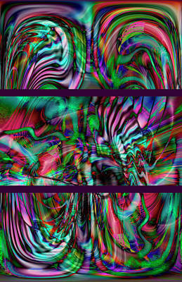 Digital Art - Amarillion Triptych by Richard Thomas