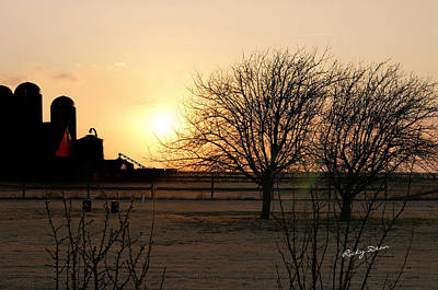 Amarillo Sunset Art Print