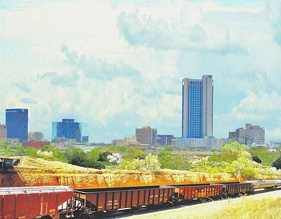 Amarillo Texas In The Spring Art Print