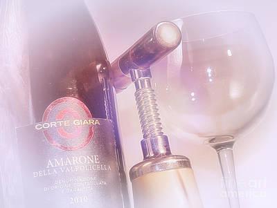 Italian Wine Photograph - Amarone Wine Tasting by Stefano Senise