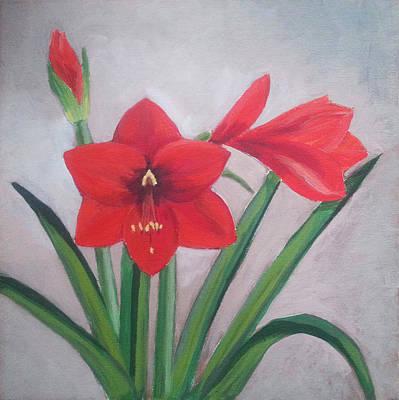 Bloom Painting - Amaryllis by Angelina Sofronova