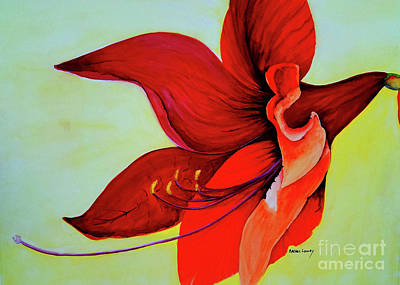 Painting - Amaryllis Blossom by Rachel Lowry