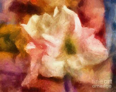 Amaryllis Painting - Amaryllis Colori by Lutz Baar