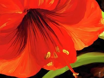 Painting - Amaryllis Flower by Jai Johnson