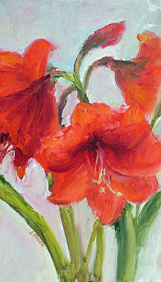 Painting - Amaryllis by Jill Musser